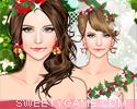 لعبة تلبيس عروسة الكريسماس