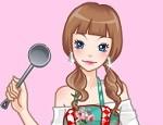 لعبة تلبيس ملابس المطبخ