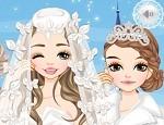 لعبة تلبيس عروسة الثلج